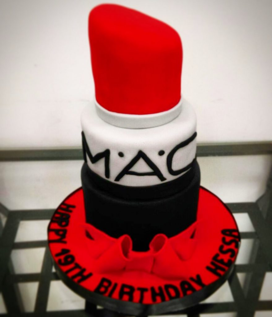 MAC cake, LIpstick cake, cake for girls, cake for lady